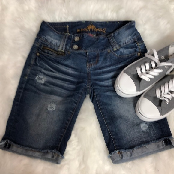 Almost Famous Pants - Almost Famous Distressed Jean Shorts.